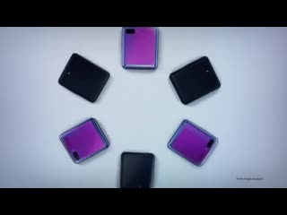 Samsung just showed off the entire z flip during its oscars ad. small print says screen crease is normal, heh