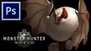 Paolumu - Monster Hunter World   Photoshop Painting