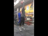 Aleksander Khvostov snatch with 32kg 177reps
