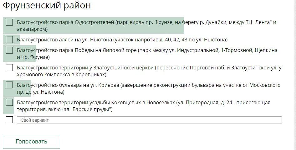 Дан старт голосованию за благоустройство общественных пространств Ярославской области