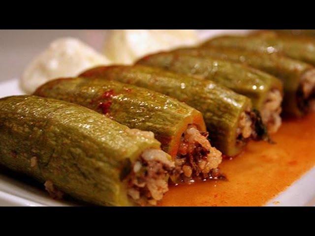 Stuffed zucchini (kousa mahshi) - Lebanese Cuisine
