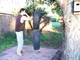 tire man M.A.C.K. Knife fighting.