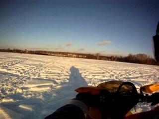 С Ванькой на быстром снегоходе