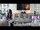 ✨Glam Home✨HOME MAKEOVER PART 4   GLAM FAMILY ROOM TOUR