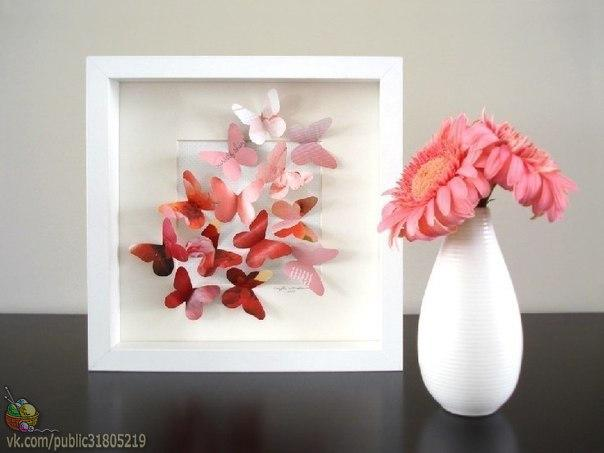 Декоративное панно с бабочками (6 фото) - картинка