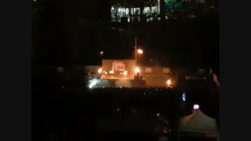 Фаер шоу возле ТЦ Атлас 09.11.18