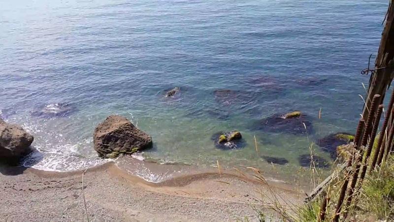2016 08 23 Красивейший пляж на даче Горбачева Мюссера. Абхазия.