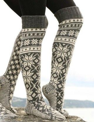 носки с рисунком Носки вязаные спицами с норвежским рисунком. носки с рисунком.