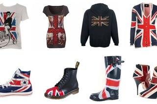 Плюс бесконечное множество аксессуаров с символикой британского флага - серьги, броши, значки, подвески, ремни.