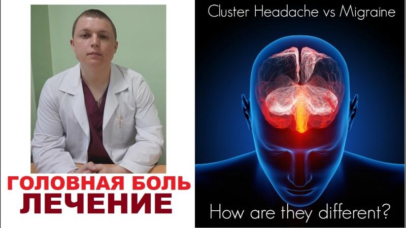 Головная боль КЛАСТЕРНАЯ Лечение Диагностика CLUSTER HEADACHE RELIEF