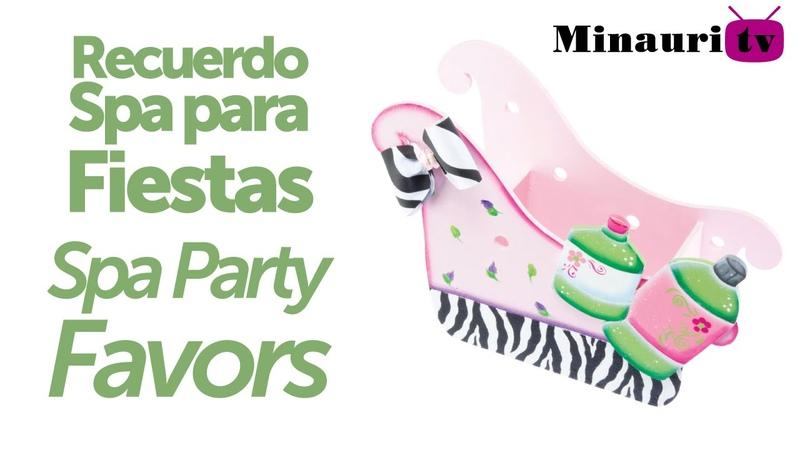 DIY - Recuerdo SPA para fiestas - ( SPA Box children decoration ) ( 0330 )