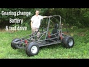 Riding the two speed off road go kart