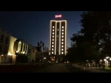 Подсветка на здании РЖД