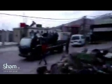 Пригород Кунейтры, бойцы комитета обороны ведут огонь по уходящим израильским самолётам