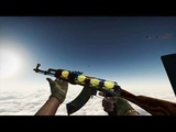 AK-47 Case Hardened (Factory new) + Gold stickers