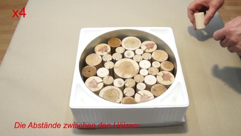 011 Schale aus Kunstharz und Aststücken Vom Guss zum Rohling Epoxy Resin Bowl