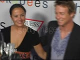 Simon Baker and Rebecca Rigg at the 'I Heart Huckabees' Premiere at the Grove in Los Angeles, California on September 22, 2004.