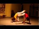 Nice capoeira action - instrutora Piupiu e professor Pinoquio