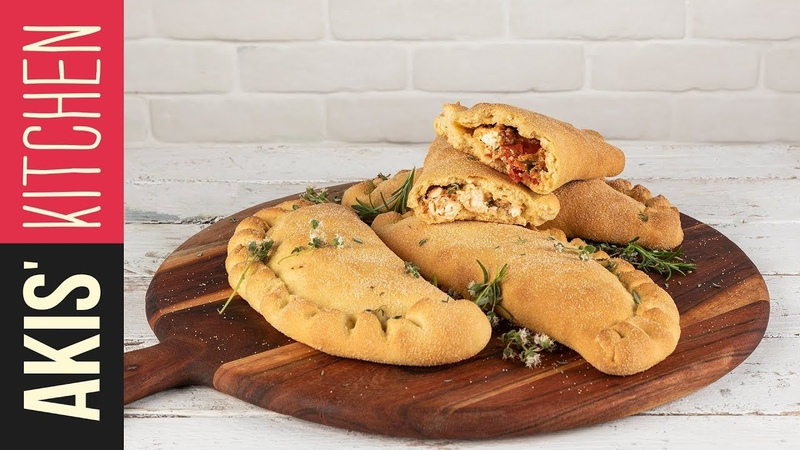 Greek calzone | Akis Kitchen