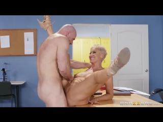 Ryan keely - beauty teacher milf mature boobs busty blonde cumshot licking blowjob куни минет секс учительница
