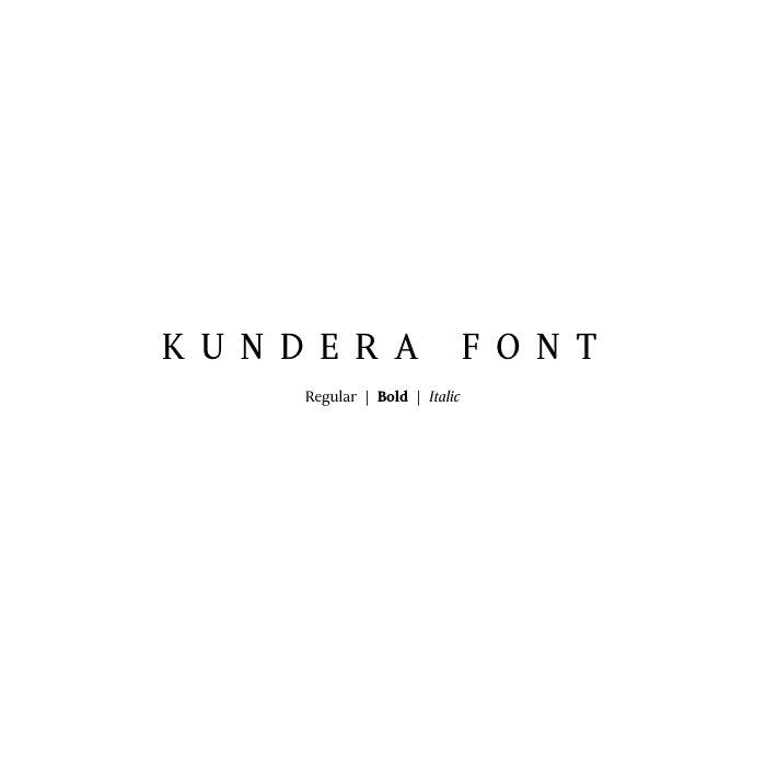шрифт Kundera