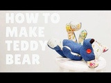 Make your own teddy bear Upcycle jeans into teddy bear old jeans easy sewing project