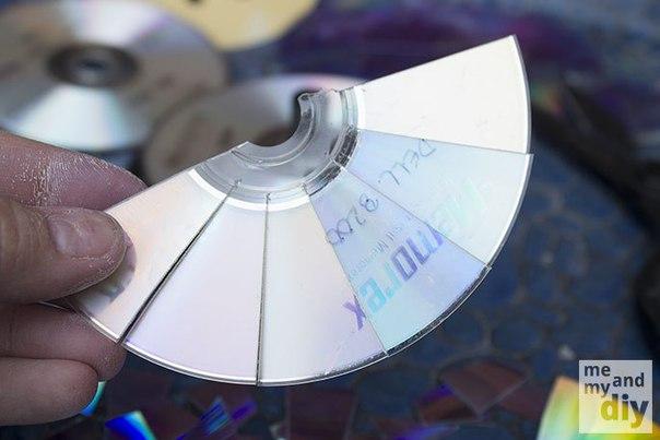 Декор с помощью компакт-дисков