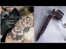 BEST HOME MADE TATTOO GUN / BUILDING AND USING IT (realistic rose tattoo)