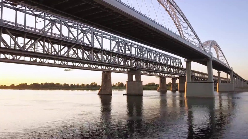 Борский мост | Нижний Новгород | Аэрофото-видеосъемка | Dji mavic pro