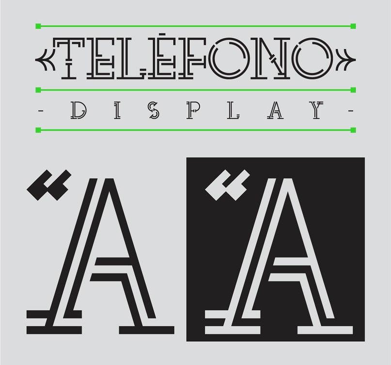 шрифт telefono