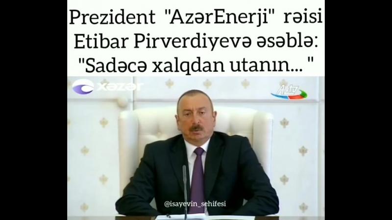 Ильхам Алиев перебил Пирвердиева Старики женщины и дети остались в метро и в лифтах