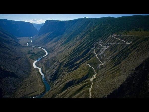 Спуск с Перевала Кату Ярык на Автомобиле Горный Алтай