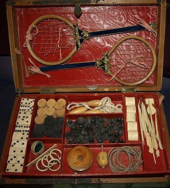 Дорожный игровой набор викторианской эпохи 1850г.Великобритания