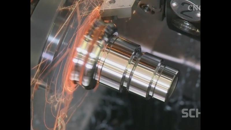 Cnc Machine Metal Machining (Relaxing Music)