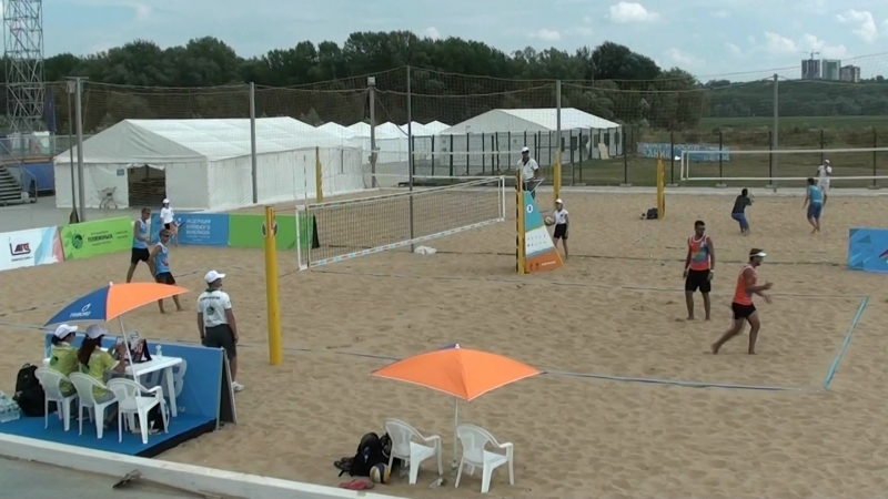 Beach volley Russia Kazan 2018 M 06 Firsov-Vasilevsky and Bogatov-Rakusov