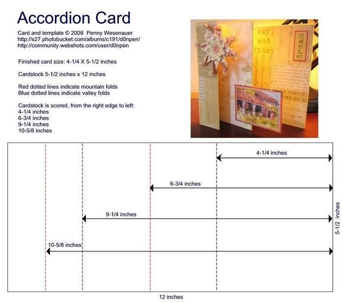 Схемы для сложных открыток