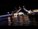 Разводили мосты. Санкт Петербург.