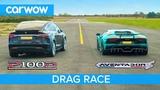 Lamborghini Aventador vs Tesla Model X - DRAG &amp ROLLING RACE - Can an EV SUV beat a supercar