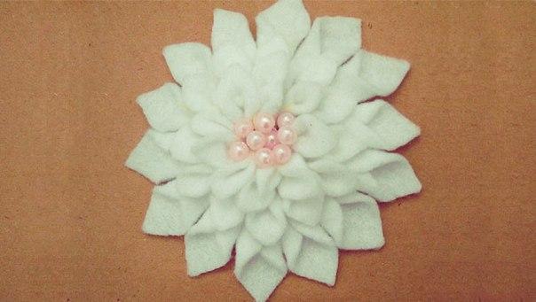 Цветы из фетра своими руками мастер класс - Поделки