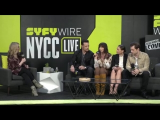 SYFY - New York Comic Con with Outlander Cast Interview