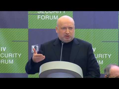 Выступление Секретаря СНБО Украины А. Турчинова на Киевском форуме по безопасноти 13.04.2018