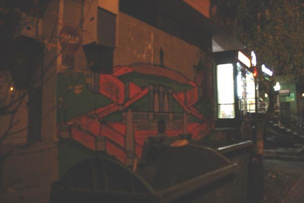 Серия классных местячковых граффити в Нижнем: Чкаловская лестница