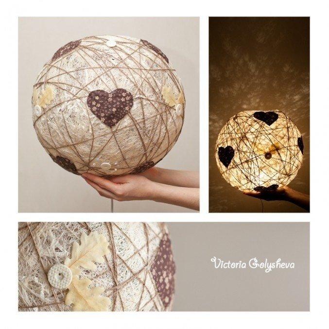 Как сделать люстру шарик