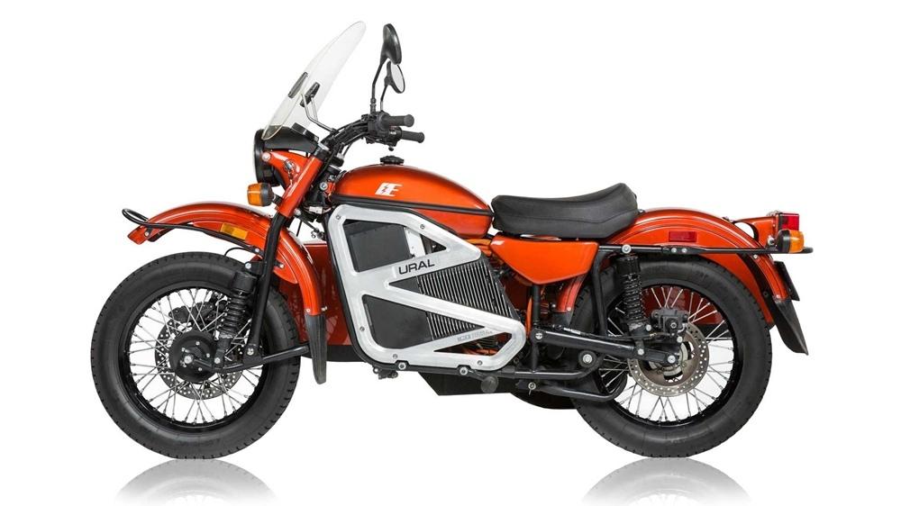 Электрический мотоцикл Ural cT с коляской