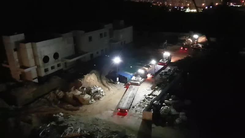ЖК Эталон Сити : продолжают расчищать площадку строительства школы увозят бочки с её территории