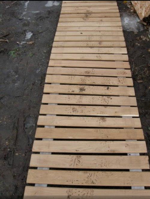 Рулонная деревянная дорожка