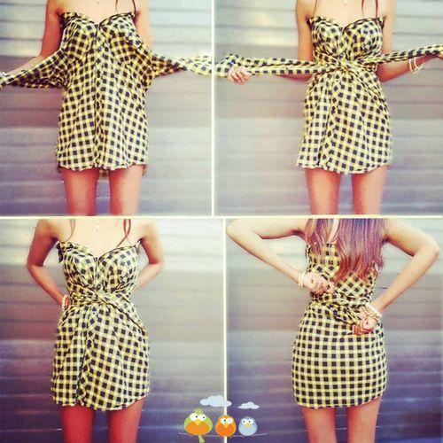 Платье из рубашки (1 фото) - картинка