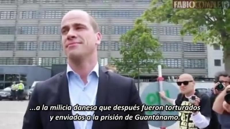 Miembro de Bilderberg 2014 habla con la gente en las protestas (Diederik Samsom)