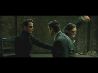 The Matrix Reloaded - Neo vs Three Agents