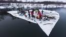 Самый обычный сплав на льдине по Дону с кучей приколюх